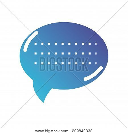 silhouette chat bubble text message vector illustration
