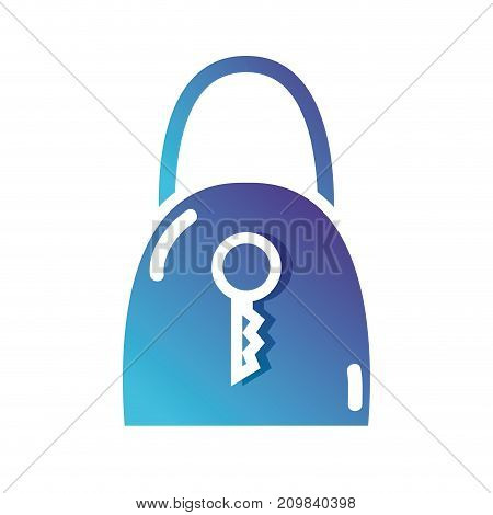 silhouette padlock security and protect icon vector illustration