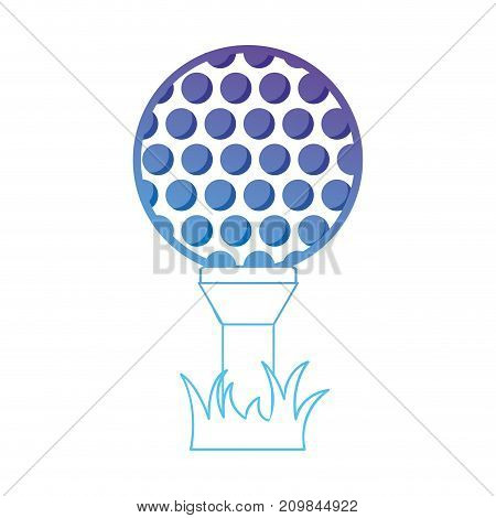 line ball object to play golf vector illustration