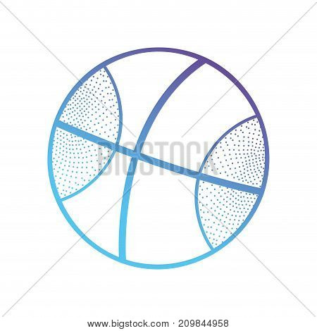 line ball object to play basketball vector illustration