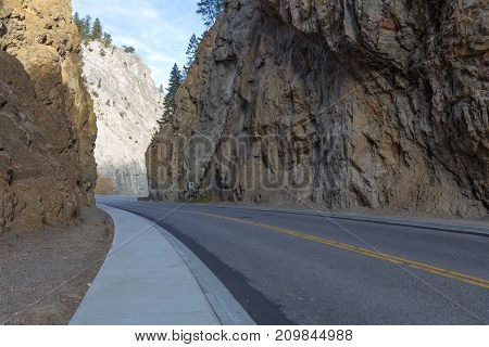 View from inside Sinclair Canyon near Radium Hot Springs BC.