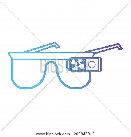line 3d glasses object technology vector illustration