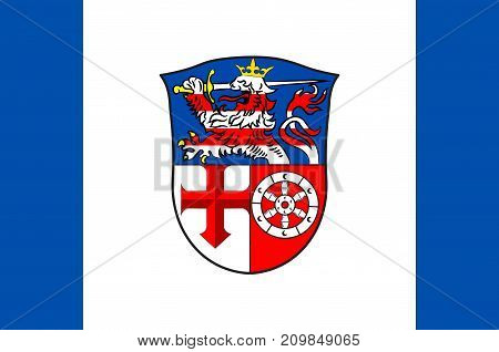 Flag of Heppenheim is the seat of Bergstrasse district in Hesse Germany. Vector illustration