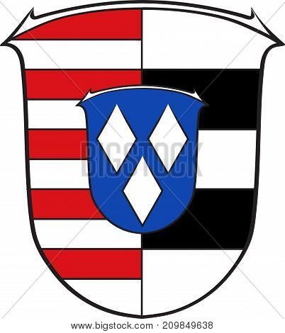 Coat of arms of Gross-Gerau is a district in the south of Hesse Germany. Vector illustration