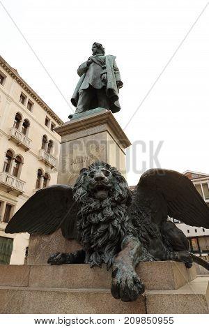 Monument of Daniele Manin in Venice Italy