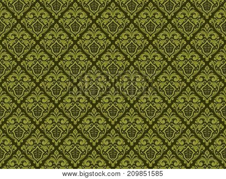 Seamless vintage damask floral pattern. beautiful for decoration, wallpaper, print design on fabric or textile, tile etc.
