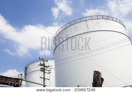 industrial water tank for fire fighting,  Industrial zone.