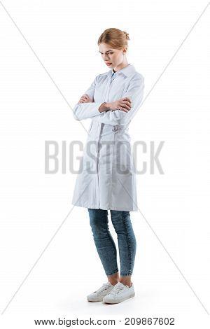 Upset Female Chemist
