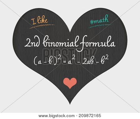 2Nd Binomial Formula - I Like Math Illustration