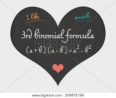 3Rd Binomial Formula - I Like Math Illustration