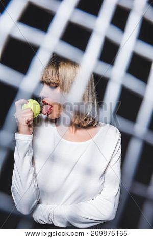 Beautiful Woman With Tennis Ball