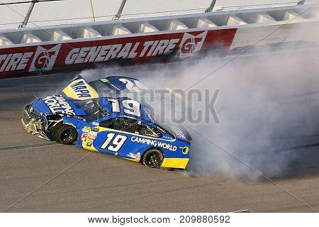 October 15, 2017 - Talladega, Alabama, USA: Daniel Suarez (19) wreck during the Alabama 500 at Talladega Superspeedway in Talladega, Alabama.