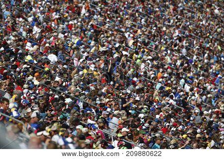 October 15, 2017 - Talladega, Alabama, USA: Fans cheer on their favorite drivers during the Alabama 500 at Talladega Superspeedway in Talladega, Alabama.
