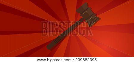 law gavel wooden hammer justice legal judicial revolution red propaganda strong strike protest vector