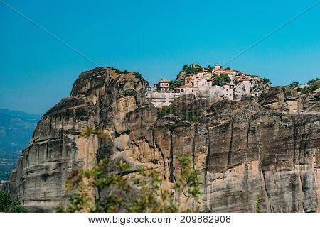Meteora Monasteries, Greece. The Monastery Of Great Meteoron
