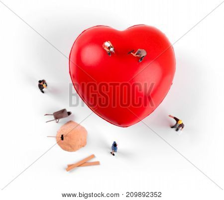 heart health and treatment concept. top view