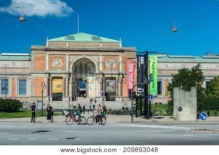 Copenhagen Denmark - september 3 2017: The National Gallery of Denmark (Statens Museum for Kunst also known as SMK) collects registers maintains researches and handles Danish and foreign art dating from the 14th century to the present day.