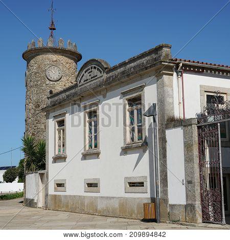 Clocktower of Sao Pedro de Rates, Camino de Santiago, Portugal