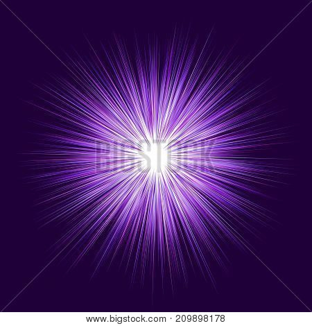 Purple abstract explosion, blast graphic design background