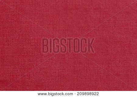 Fabric Texture Of Red Color