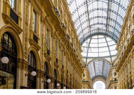 MILAN, ITALY - March 16, 2017: Galleria Vittorio Emanuele II, Milan