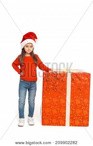 Child With Big Christmas Present