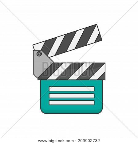 Vector flat clapboard icon isolated on white background