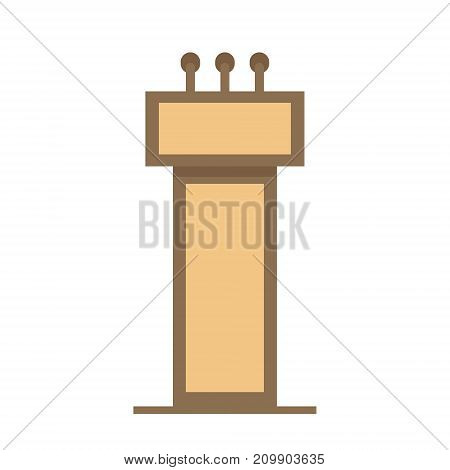 Flat vector design in icon lectern symbol.