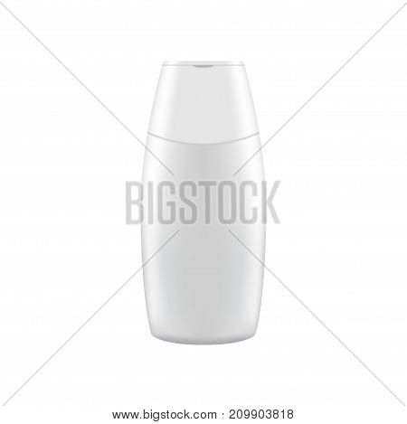 Clean shampoo bottle mock up. Cosmetic presentation Template