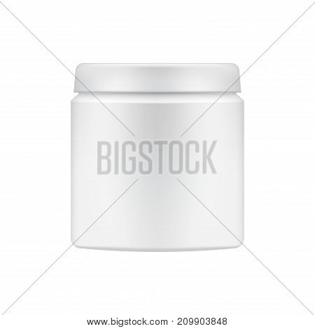 Vector cosmetic package template. Can be used for scrub or body butter promotion mock up