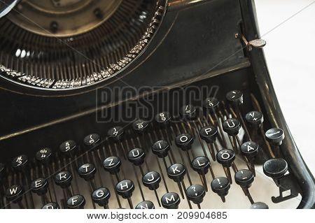 Vintage Manual Typewriter Machine Keyboard