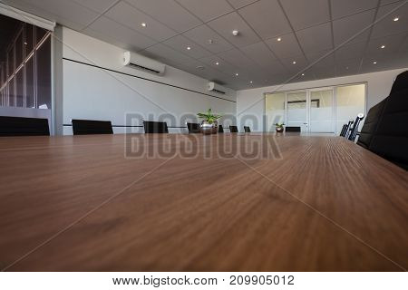 Interior of empty modern conference room