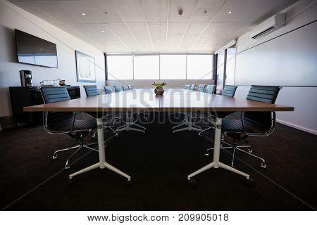 Interior of empty modern meeting room