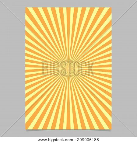 Abstract sunburst brochure design template - vector page background illustration from striped rays