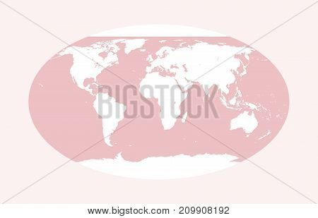 Pink vector world map. Globe illustration, white pink