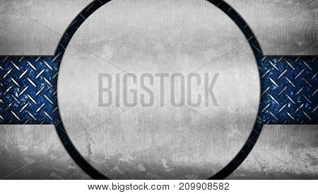 round metal template background