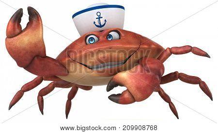 Fun crab - 3D Illustration