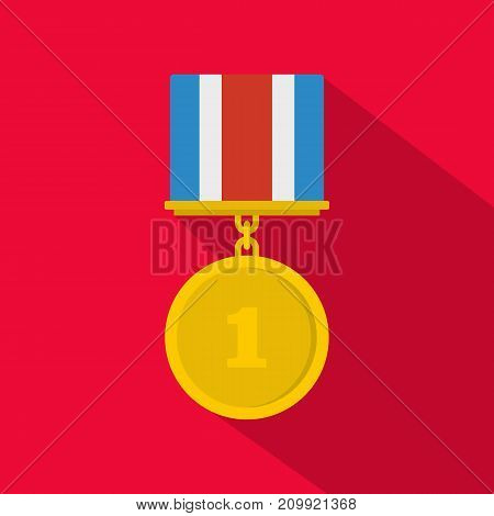 Medal icon. Flat illustration of medal vector icon for any web design