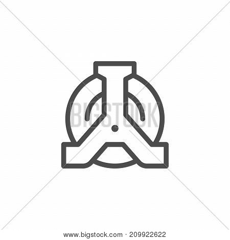 Wheel clamp line icon isolated on white. Vector illustration