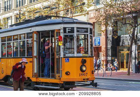 Italian Tram In San Francisco