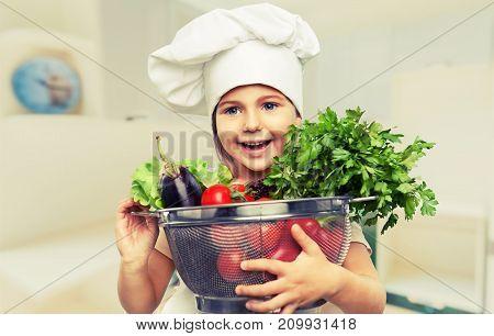 Girl health healthy food little preparing table
