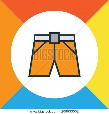 Premium Quality Isolated Shorts Element In Trendy Style.  Briefs Colorful Outline Symbol.