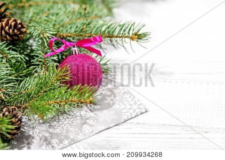 Christmas background for greetings. Concept Happy Christmas New Year holiday winter.