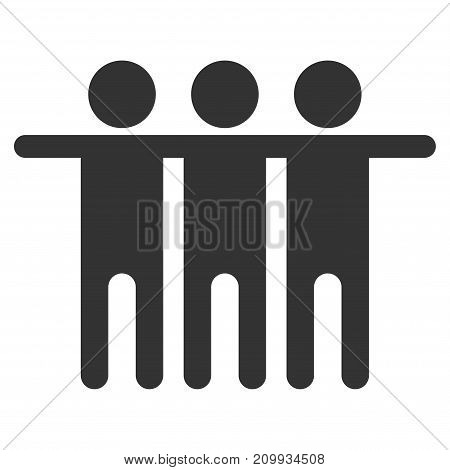 Friendship vector pictogram. Style is flat graphic gray symbol.