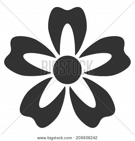 Flower vector icon. Style is flat graphic gray symbol.