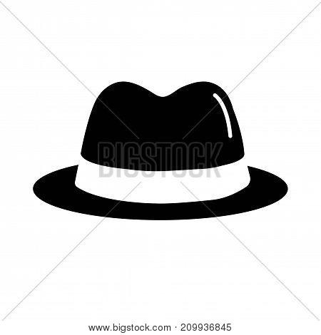 Hat icon. Spy black icon.  Vector illustration.