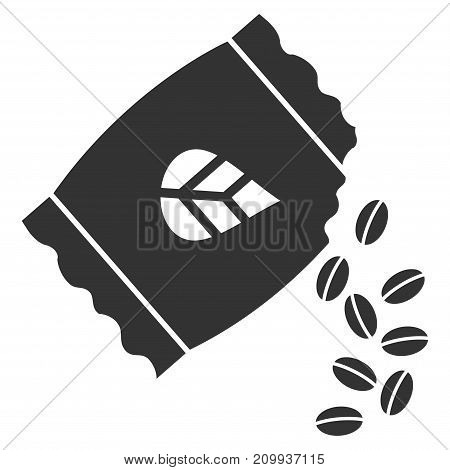 Sow Seed Pack vector pictograph. Style is flat graphic grey symbol.
