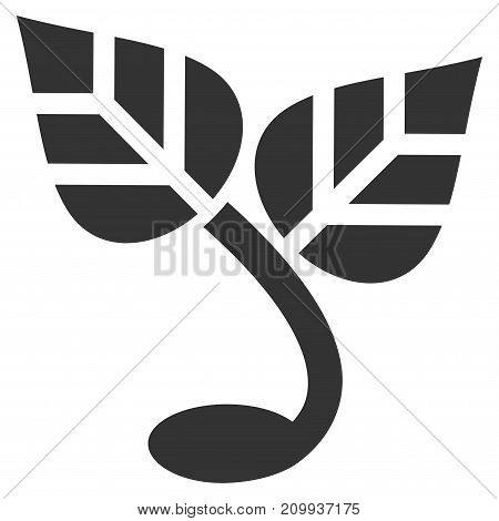 Sprout vector pictograph. Style is flat graphic gray symbol.