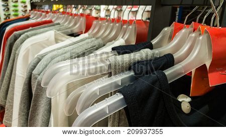 Undershirts With Red Blank Tag In A Sports Store In Eskisehir