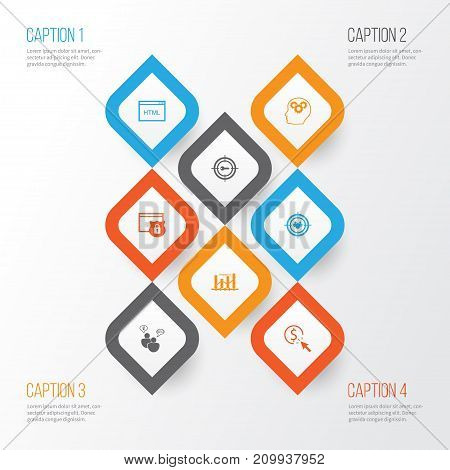 SEO Icons Set. Collection Of PPC, Keyword Marketing, Search Optimization And Other Elements